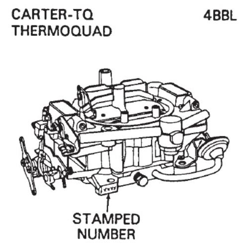 how to identify carter carburetor